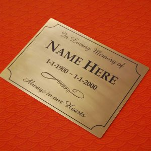 Brass Plaque Outdoor