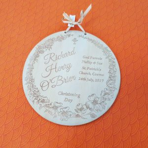 Christening Day Plywood Plaque Plywood Plaque